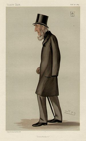 """Sir Edward Colebrooke, 4th Baronet - """"Lanarkshire"""". Caricature by Spy published in Vanity Fair in 1885."""