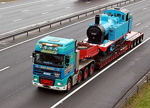 Thomas The Tank Engine (look-alike) on the mot...