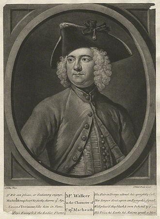 Thomas Walker (actor) - Thomas Walker, 1728 engraving as Captain Macheath