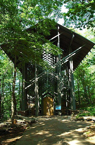 E. Fay Jones - Jones' Thorncrown Chapel was added to the National Register of Historic Places in 2000 due to its exceptional architectural significance, although generally buildings must be at least 50 years old.
