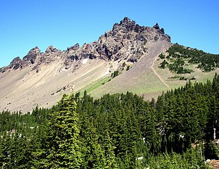 Three Fingered Jack mountain in United States of America
