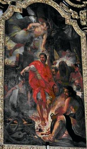 Saint Tiburtius - Tiburtius walking on coals