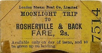 Sinking of SS Princess Alice - Ticket for the Moonlight Trip on 3 September 1878