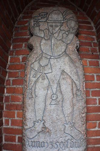 Till Eulenspiegel - Till Eulenspiegel memorial stone (grave) in Mölln, Schleswig-Holstein