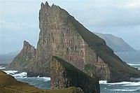 Tindholmur, Faroe Islands, as seen from south east.jpg