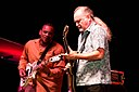 Tinsley Ellis and Jarekus Singleton at Mississippi Valley Blues Festival, Davenport IA 2014.jpg