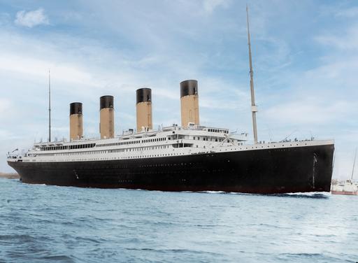 Titanic in color