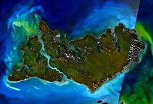Satellite image of the Tiwi Islands