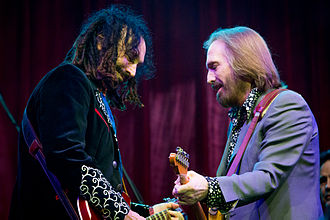 Tom Petty and the Heartbreakers - Mike Campbell (left) and Tom Petty at Bonnaroo in 2013