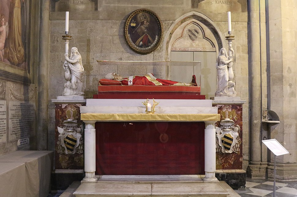 Tomb of Pope Gregory X in Arezzo Cathedral