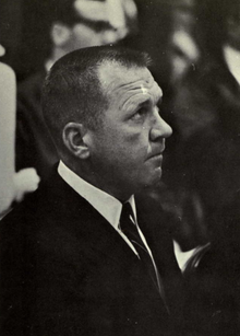 Bartlett in coat and tie, taken during game