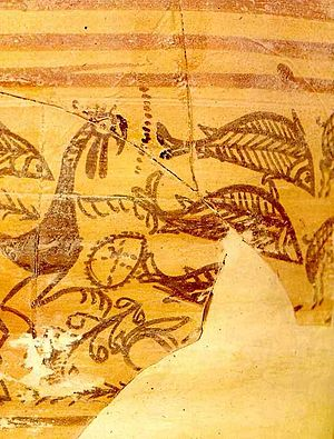 History of Alicante - Iberian ceramics. Archeological site of Tossal de Manises, ancient iberian-carthaginese-roman city of Akra-Leuke or Lucentum. Now at the Archaeological Museum of Alicante.