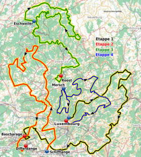 Route of the Tour de Luxembourg