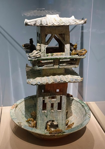 File:Tower with archers, China, Han dynasty, 206 BC to 220 AD, glazed terracotta - Middlebury College Museum of Art - Middlebury, VT - DSC08205.jpg