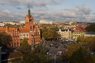 Pomeranian Voivodeship - Słupsk, the largest city in the west of the voivodeship