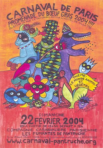 Paris Carnival - A modern carnival poster made by Basile Pachkoff