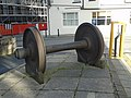 Train wheels at entrance to Lime Street offices.jpg