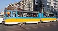 Tram in Sofia near Sofia statue 2012 PD 053.jpg