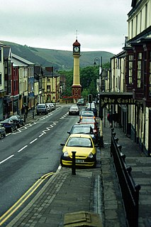 Tredegar town in Wales, Britain