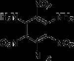 Strukturformel von Triaminotrinitrobenzol