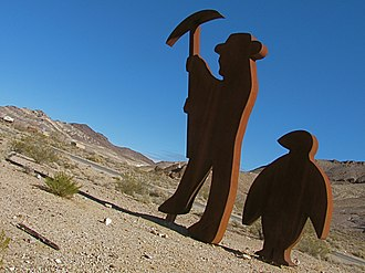 Goldwell Open Air Museum - Image: Tribute to Shorty Harris by Fred Bervoets in Goldwell Open Air Museum