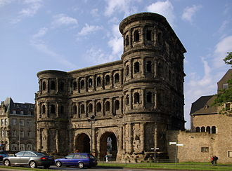 Gallia Belgica - The Porta Nigra of Trier, capital of Gallia Belgica, constructed between 186 and 200 AD