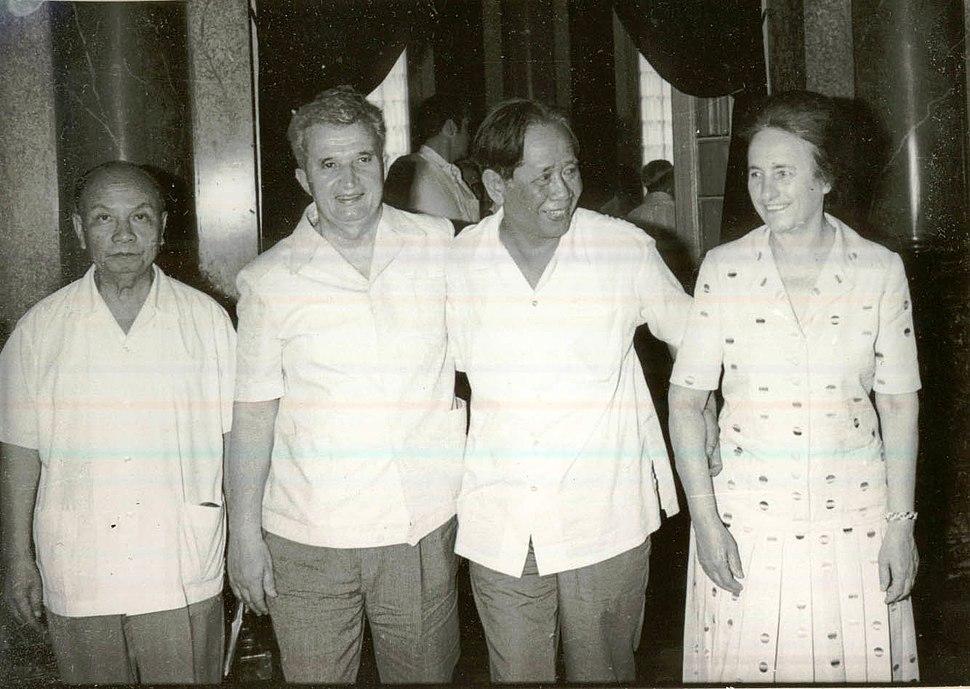 Truong Chinh, Le Duan, Nicolae og Elena Ceausescu.jpeg