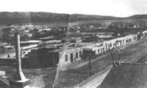 Southern Arizona - Stone Avenue in the year 1880 in Tucson, southern Arizona's largest city