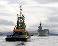 Tug SD Impetus Awaits HMS Ark Royal on Clyde MOD 45149728.jpg