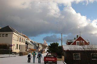 Village in Faroe Islands, Kingdom of Denmark