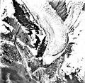 Tyeen Glacier, mountain glacier terminus, striations in the rock, and glacial remnents, August 25, 1988 (GLACIERS 5961).jpg