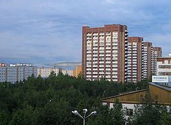 Residential buildings in Tynda