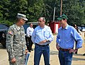 U.S. Army Maj. Gen. Daniel Hokanson, left, Oregon adjutant general, speaks with U.S. Sens 130803-Z-UF867-109.jpg