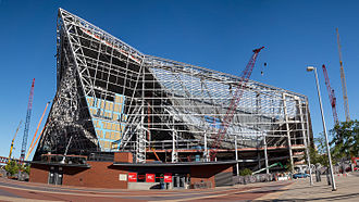 U.S. Bank Stadium - US Bank Stadium under construction