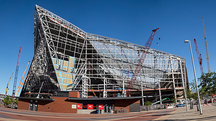 US Bank Stadium under construction U.S. Bank construction 2 October 2015.jpg
