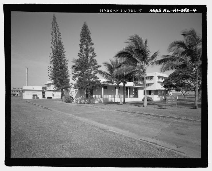 File:U.S. Naval Base, Pearl Harbor, Bachelor Officers' Quarters, Saratoga Boulevard between Hancock Avenue and Yorktown Boulevard, Pearl City, Honolulu County, HI HABS HI-382-5.tif