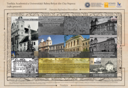 Different buildings that hosted the University in Cluj-Napoca from 1581 to modern times