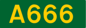 A666 road shield