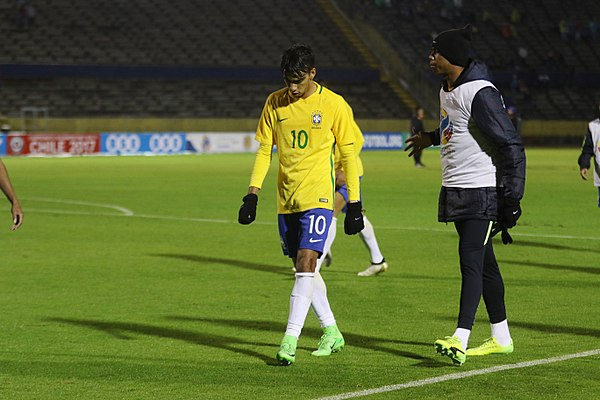 f12ee34a45d50 Lucas Paquetá em campo pela Seleção Sub-20 no Sul-Americano no Equador.