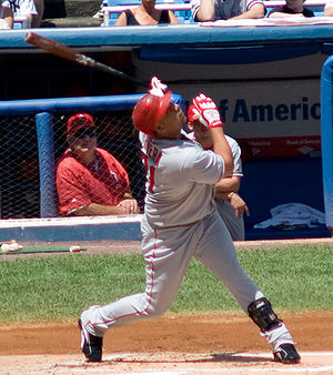 Juan Rivera (baseball) - Rivera batting for the Los Angeles Angels in 2008
