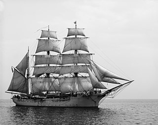 Barque type of sailing vessel with three or more masts