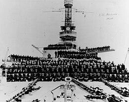 USS ARIZONA on East River in New York City Christmas 6 Sizes! New Navy Photo