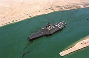 USS Forrestal (CV-59) Suez canal 108 days at sea