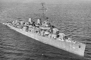 USS Haggard (DD-555) underway on 22 September 1943 (19-N-53909)