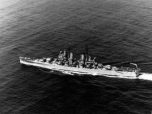 USS Los Angeles (CA-135) underway in the 1940s.jpg