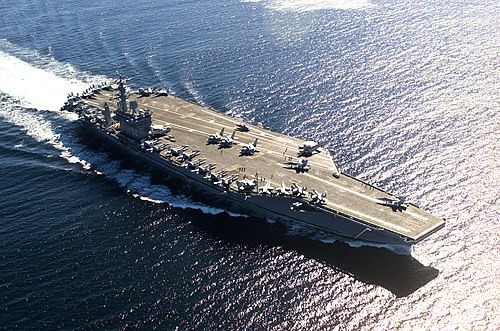 Aircraft carriers such as the USS Nimitz play an important role in modern power projection.