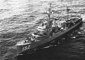 USS Peterson (DE-152) - Peterson, circa 1964.