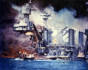 Faith: A Holiday Album - Ships burning at Pearl Harbor