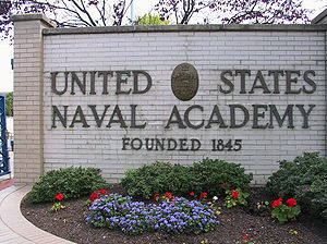 US Naval Academy sign