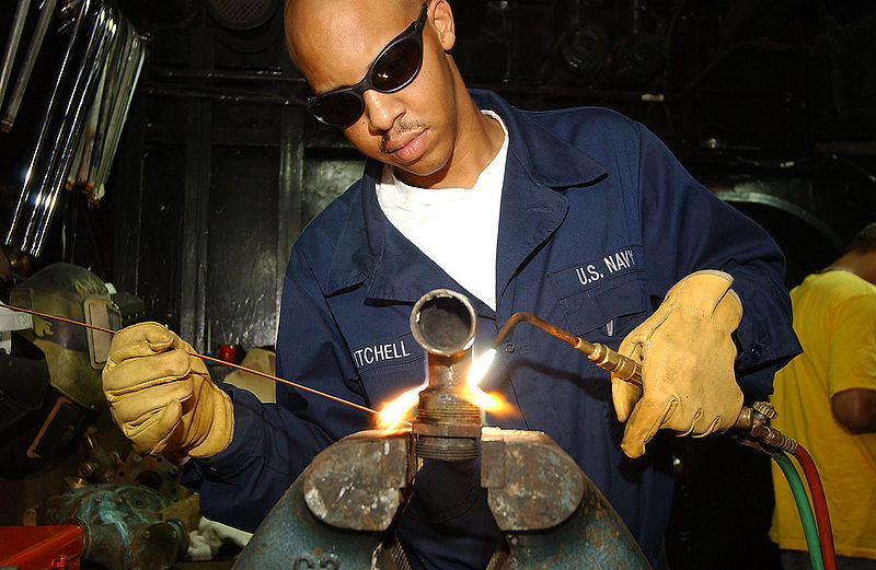 File:US Navy 021121-N-6278J-003 braising a fitting in the ship's pipe shop.jpg